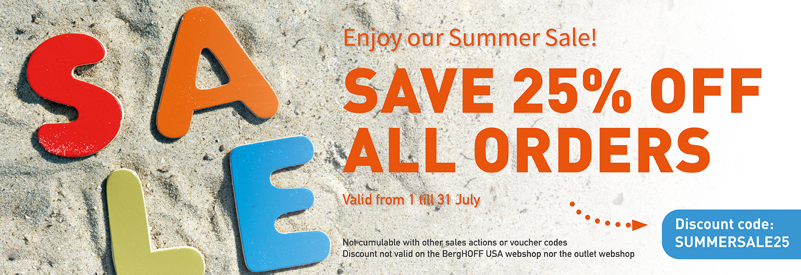 Berghoff Summer sales discount 25%